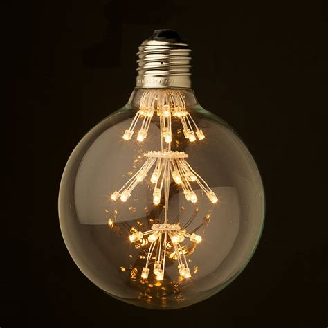 Clear Led Light Bulbs Dimmable 3 Watt Vintage Led E27 Clear 95mm Bulb