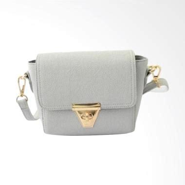 Tas Selempang Wanita Retro Kulit Dengan Kunci Segitiga Fts023 Keren tas kulit asli toko49 jual produk terbaru terlengkap