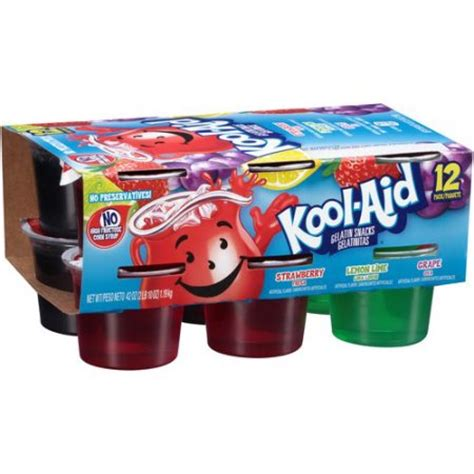 Kool Aid Gelatin Snacks Variety Pack 12 count, 42 oz Walmart.com