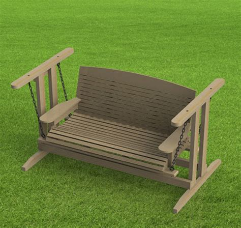 Patio Swing Plans by Free Standing Porch Swing Woodworking Plans Easy To