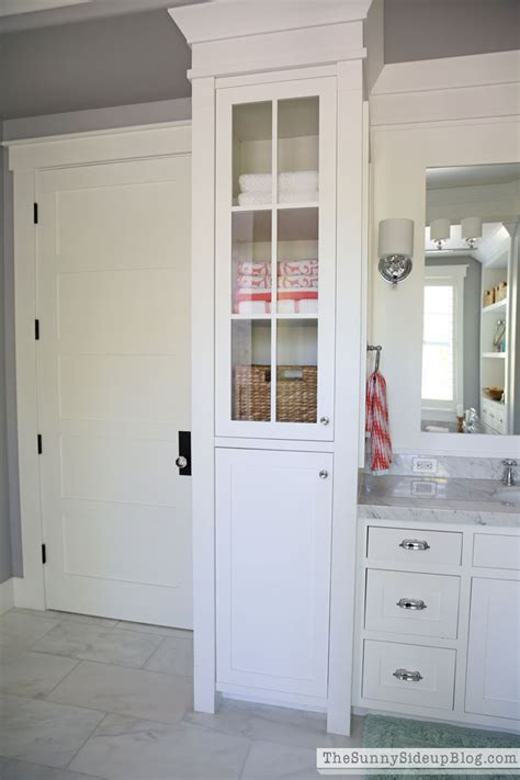 built in cabinets bathroom organized master bathroom the sunny side up blog