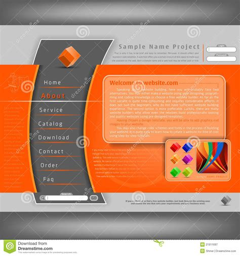 template design vector website design template stock vector illustration