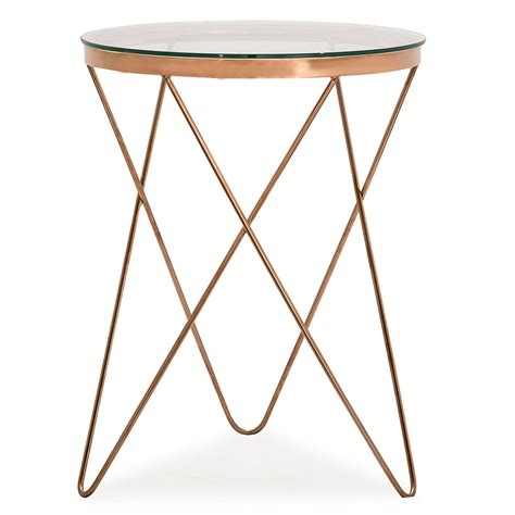 rose gold side table modern end tables masterson side table eurway