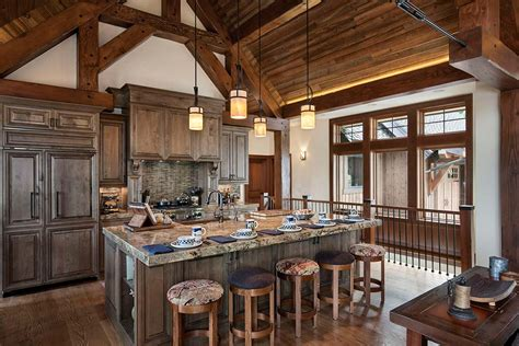 A Frame Kitchen Ideas by Photos Timber And Log Home Kitchens And Dining Rooms