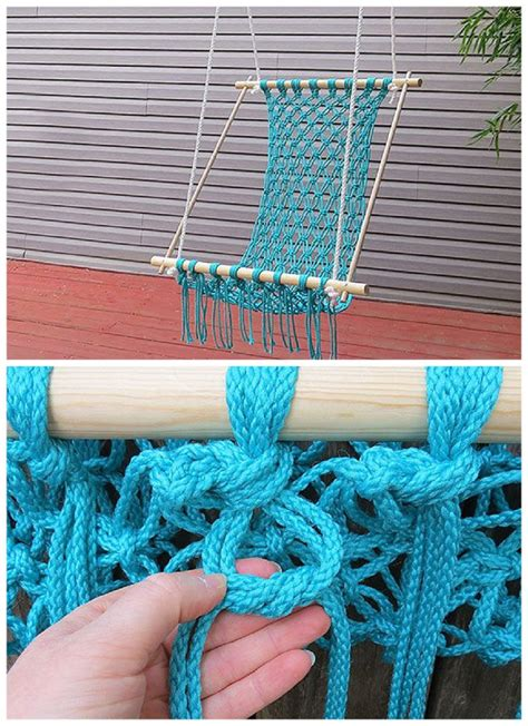 macrame hanging chair plans a do it yourself s day diy gift projects recipes