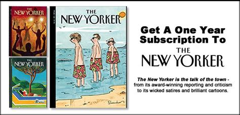 1 Year New Yorker Subscription - free 1 year subscription to the new yorker magazine