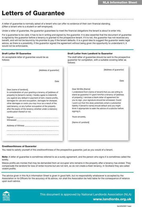 guarantee letter sample    tidytemplates