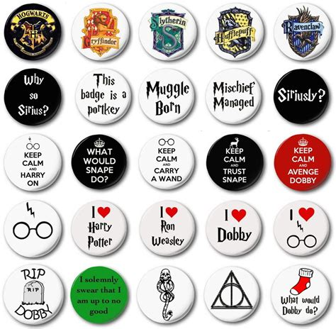 Harry Potter Various Designs 1 Quot 25mm Button Badge Novetly Jk Rowling Ebay Pin Design Template