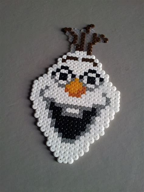 perler frozen olaf frozen original perler bead sprite by retr8bit on