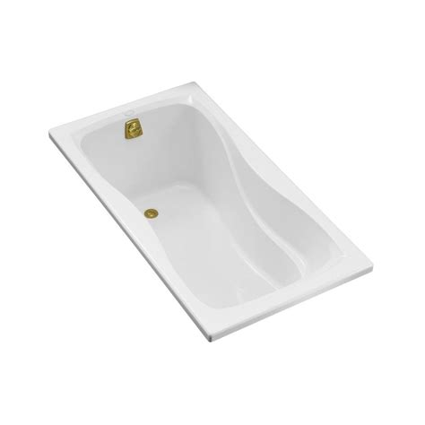 bathtub flange kohler hourglass 5 ft right hand drain with integral tile