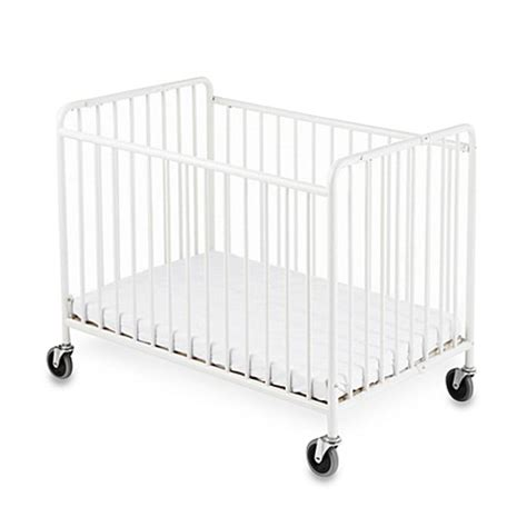 Foundations 174 Stowaway Compact Size Steel Folding Crib Foundations Baby Cribs