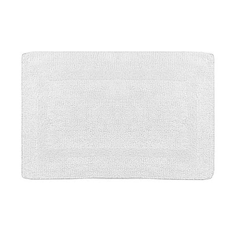 Wamsutta Reversible Bath Rug Buy Wamsutta 174 Reversible 17 Inch X 24 Inch Bath Rug In White From Bed Bath Beyond