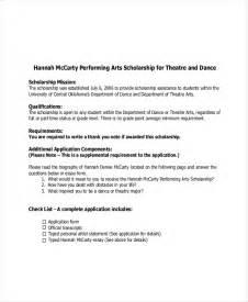 College Application Essay Ballet 9 Scholarship Essay Exles Free Premium Templates