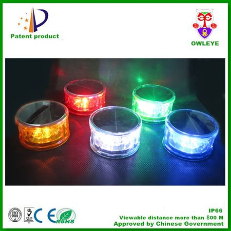 lights with solar powered led warning lights with magnet portable