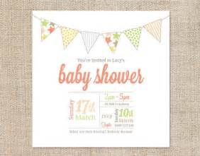 Baby Shower Email Invitation Templates by Printable Baby Shower Invitation Template Bunting