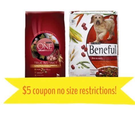 dog food coupon matchups 5 on purina one or beneful dog food coupon the harris