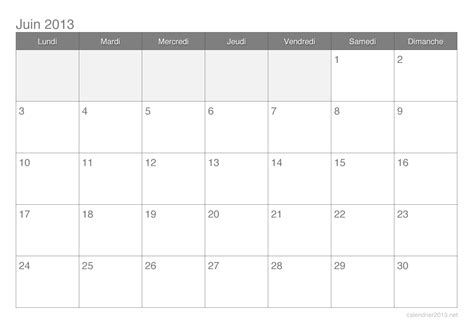 Calendrier Juin Juillet 2013 Calendrier Juin 2013 224 Imprimer Calendrier2013 Net