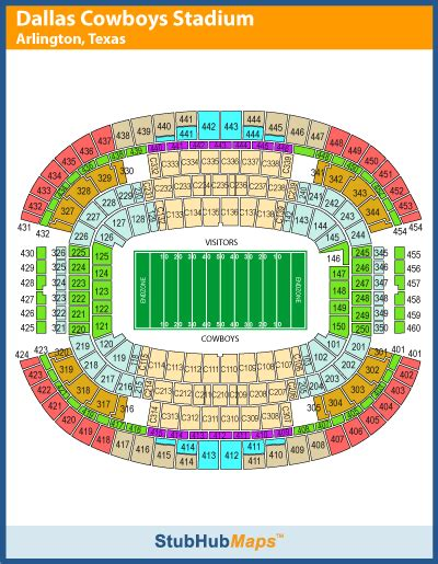at t stadium map at t stadium seating chart pictures directions and