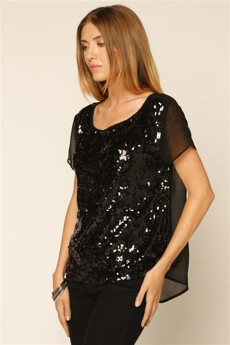 Blouse Squin Top sequin top my style