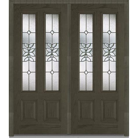 mmi door 74 in x 81 75 in classic clear glass 1 lite mmi door 74 in x 81 75 in cadence decorative glass 2