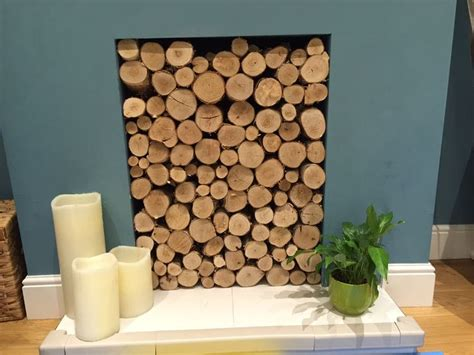 decorative logs for fireplace best 25 logs in fireplace ideas on pinterest fake
