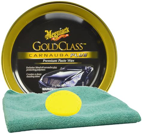Meguairs Gold Class Carnauba Plus Premium Paste Wax meguiar s gold class carnauba plus premium paste wax foam pad microfiber cloth kit megg 7014kit
