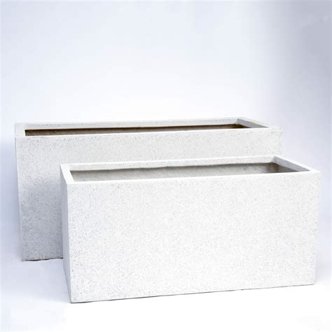 Oblong Planters by White Oblong Planters