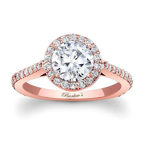 barkev s gold halo engagement ring 7933lp