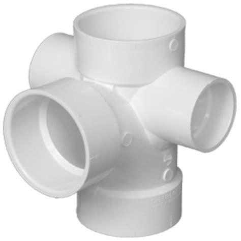 Pp Plumbing by 418 3x3x3x2x2 Sanitary W R L Side Inlets Pvc Dwv St