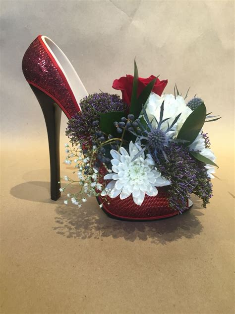 new year flower arrangement 2016 new years 2016 high heel flower arrangement