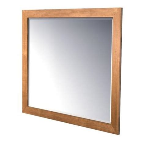 Kraftmaid Bathroom Mirrors Kraftmaid 48x36 In Framed Wall Mirror In Praline Stain Fm4836 S9 Kmhv The Home Depot