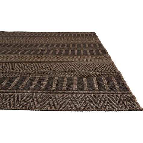 Black Outdoor Rug Catrine Tribal Black Woven Metallic Outdoor Rug 2x3 Kathy Kuo Home