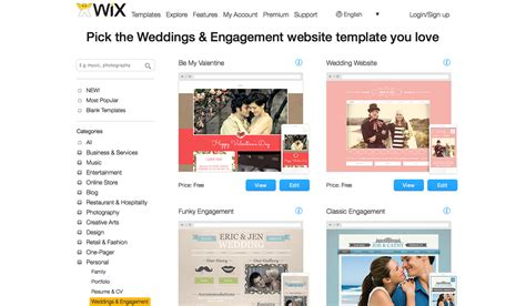Create Your Wedding Website For Free Wdexplorer Wix Web Templates