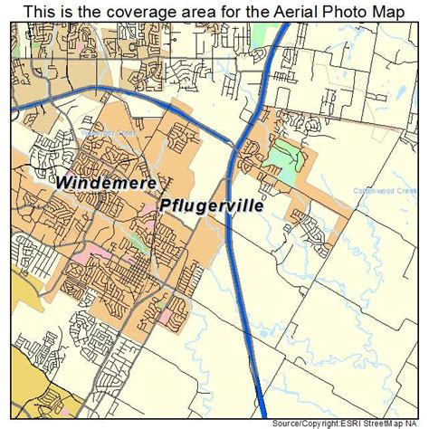 pflugerville texas map aerial photography map of pflugerville tx texas