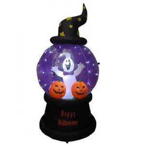 Gemmy Lights 6 Foot Halloween Inflatable Ghost Pumpkins Globe