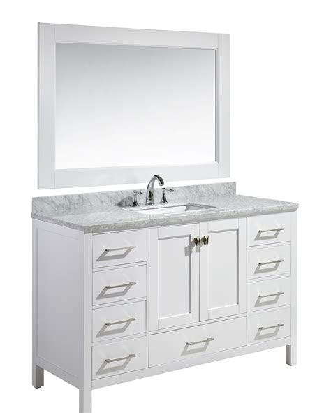 home design outlet center bathroom vanities london 54 quot single sink vanity set in white finish