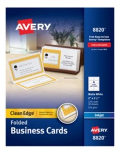 avery folded business cards template avery clean edge white matte folded business cards