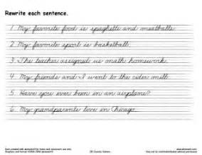 handwriting template samples