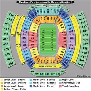Jaguar Stadium Seating Chart Everbank Field Jacksonville Jaguars Football Stadium