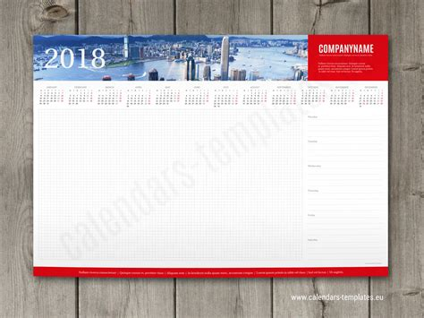 week desk planner template   yearly calendar
