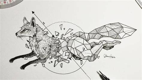 these geometric beasts sketches will blow your mind