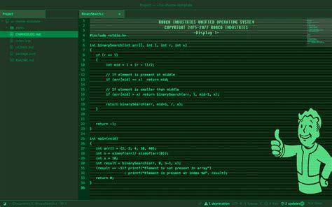 theme windows 10 fallout pipboy ui
