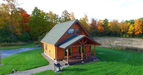 rustic real log cabin   finger lakes  vrbo