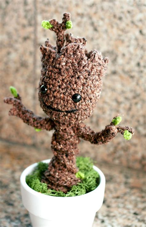 amigurumi pattern groot free crochet pattern potted baby groot from guardians of