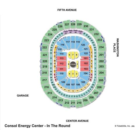 pittsburgh seating chart consol energy center pittsburgh pa seating chart view