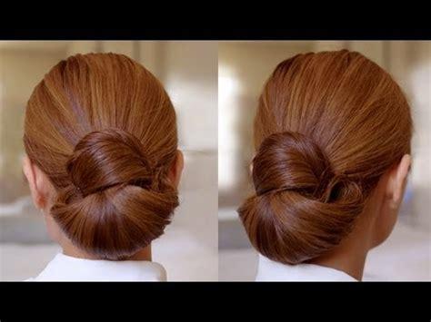 hairstyles buns youtube hair tutorial easy elegance hair bun youtube