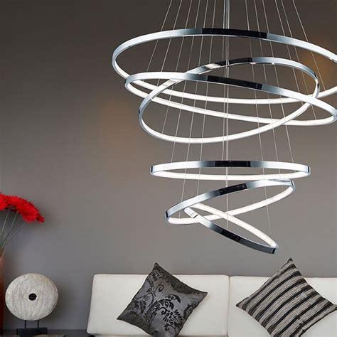 leuchten skapetze loop led pendelleuchte 6 ringe 320 cm 216 85 cm chrom