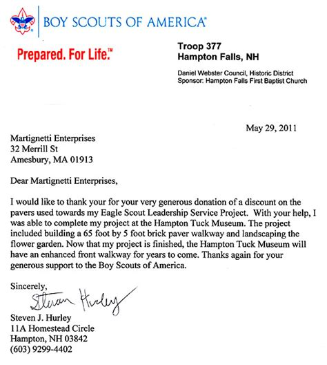 Fundraising Letter For Boy Scouts Community News Boston Marlborough Ma