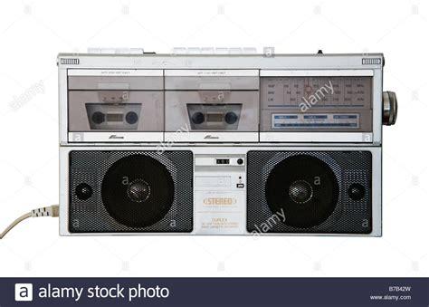 radio cassette recorder 1980s retro stereo radio cassette recorder stock photo
