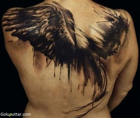 3d angel tattoo 3d angel tattoo design on back photos and ideas